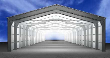 Заказать Проектирование металлоконструкций ангаров. Строительство быстровозводимых зданий из металлоконструкций, с использованием термопрофилей и ЛСТК