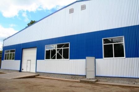 Заказать Строительство быстровозводимых промышленных зданий из металлических каркасов, с использованием термопрофилей и ЛСТК.