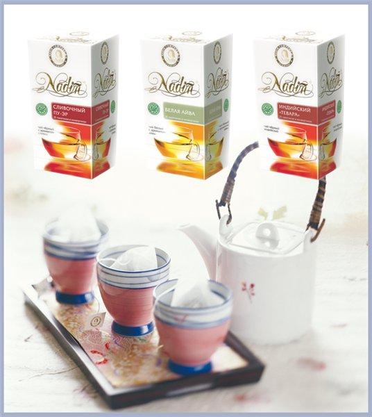 Чай в одноразовых конвертах ТМ NADIN