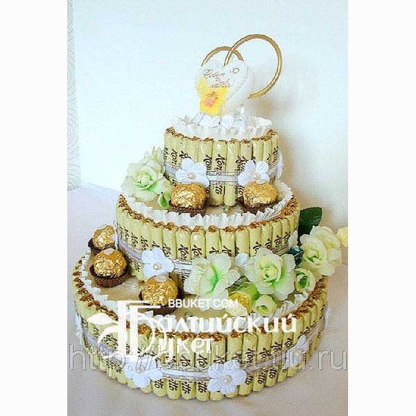 Свадебный торт фиолетового цвета фото 8