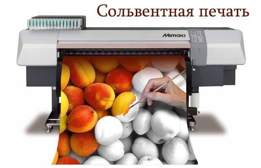 Заказать Печать сольвентная