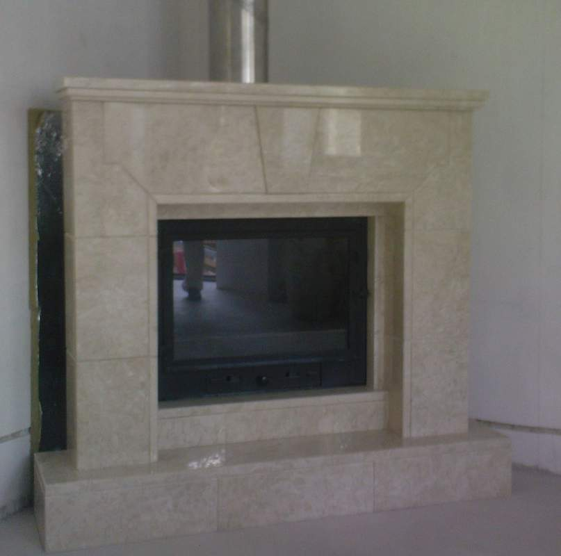 Order Production and installation of marble fireplaces