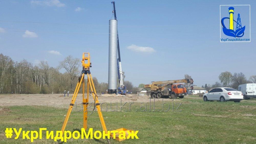 Заказать Водонапорные башни ВБР 160м\куб изготовление и монтаж