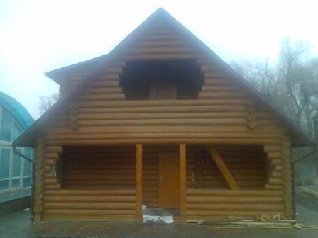 Заказать Строительство домов с оцилиндрованного и профилированного бруса.