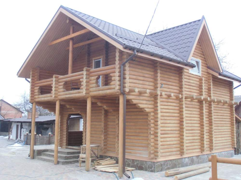 Construction of wooden and frame houses. Construction of the wooden ...