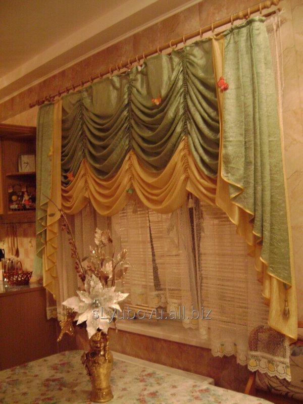 Заказать Индивидуальный пошив штор, гардин, ламбрекенов на кухонное окно, столовую, гостинную