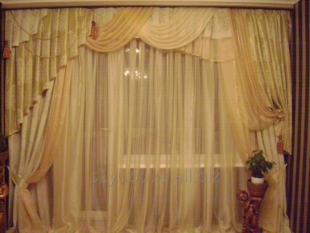 Заказать Индивидуальный пошив штор, гардин, ламбрекенов