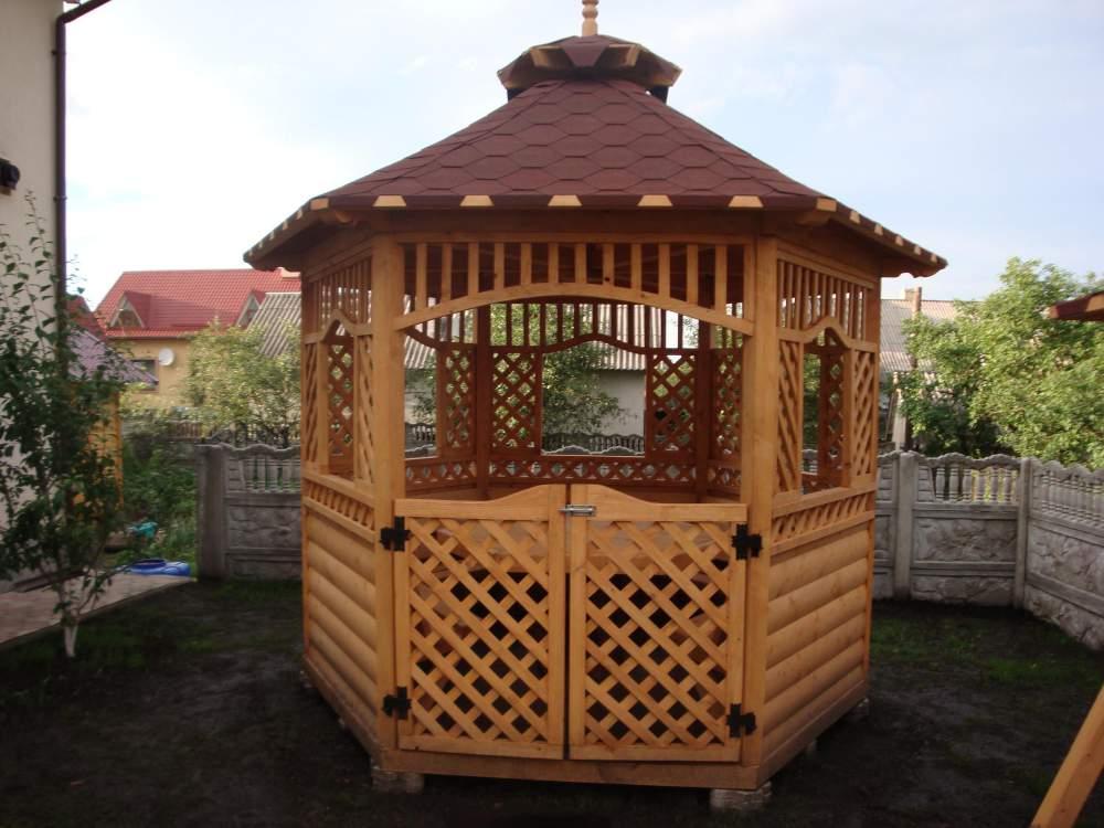 Заказать Строительство деревянных беседок, бань, домов