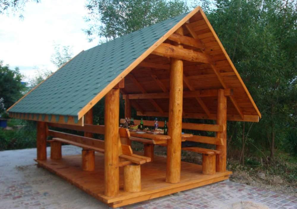 Заказать Изготовление и установка деревянных беседок