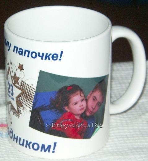 Производство чашек с нанесением фотоизображением