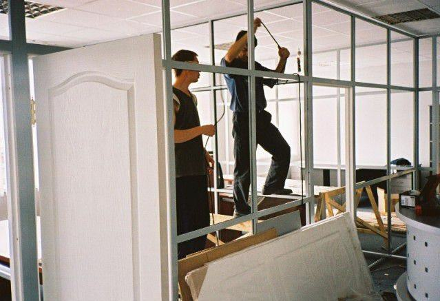 Order Installation of metalplastic partitions