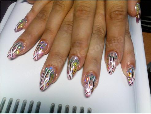 Ногти аквариумный дизайн