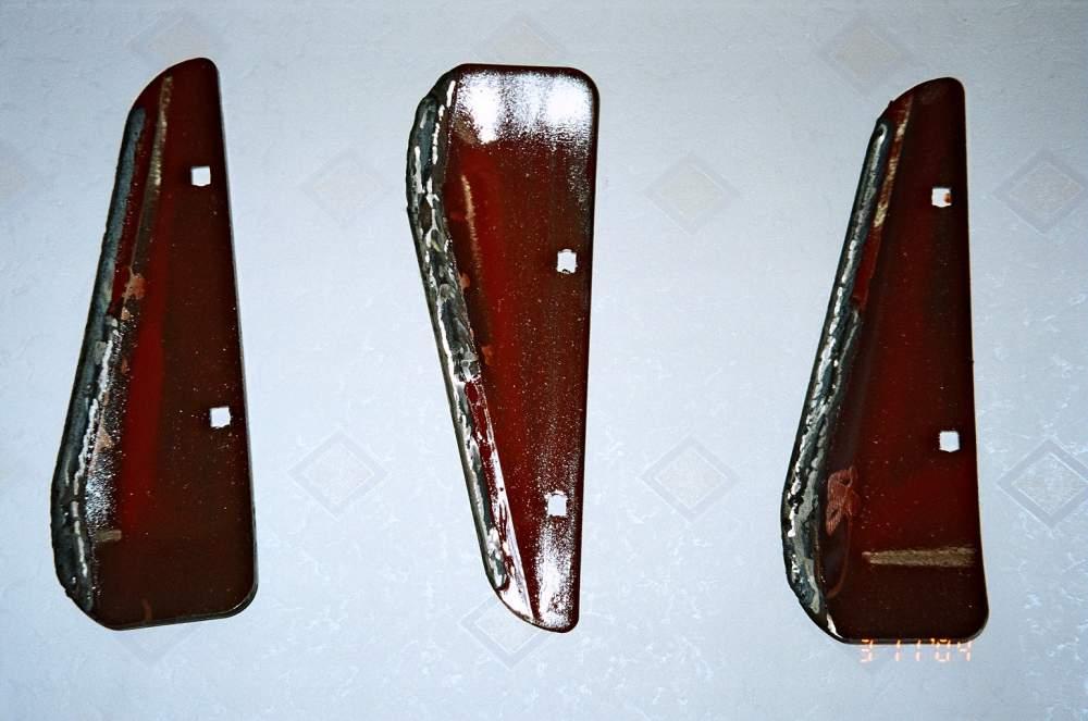 Наплавка ножей, лезвий, скребков;