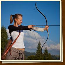 Заказать Стрельба из охотничьего лука, пневматического оружия и метание ножей
