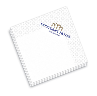 Заказать Печать логотипа на салфетке, салфетки с логотипом