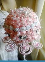 Заказать Брошь-букет невесты Искушение, свадебные букеты, Ялта.