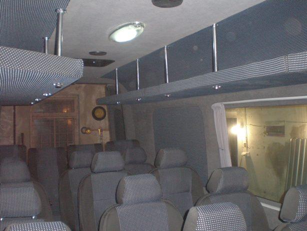 Заказать Перетяжка салона автобуса