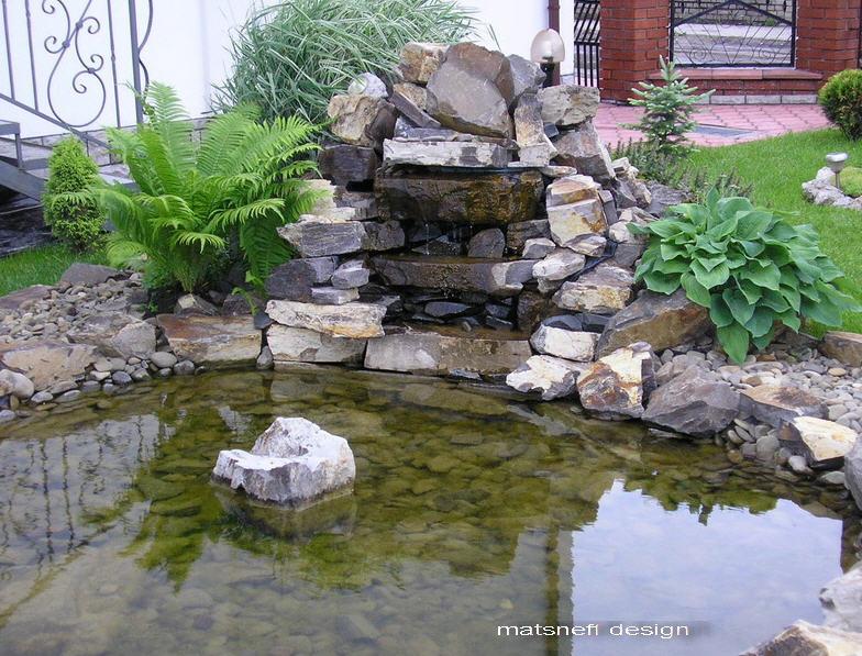 Заказать Декоративный водоем из камня