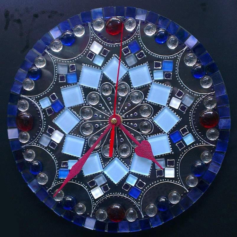 Мастер класс  « Мозаичные часы»