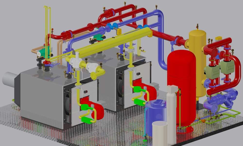 Заказать Проектирование котельных, топочных, систем отопления