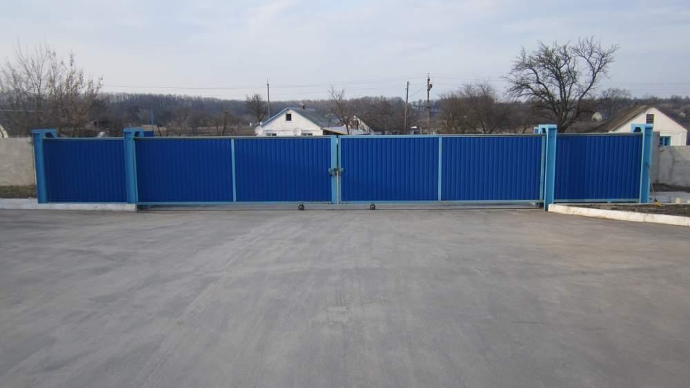 Заказать Монтаж рельсовых раздвижных ворот в Житомире, Житомирской области