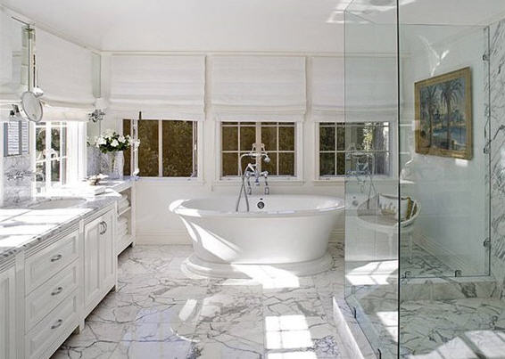 Отделка ванных комнат мрамором