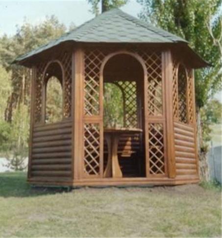 Заказать Установка деревянных беседок в Украине