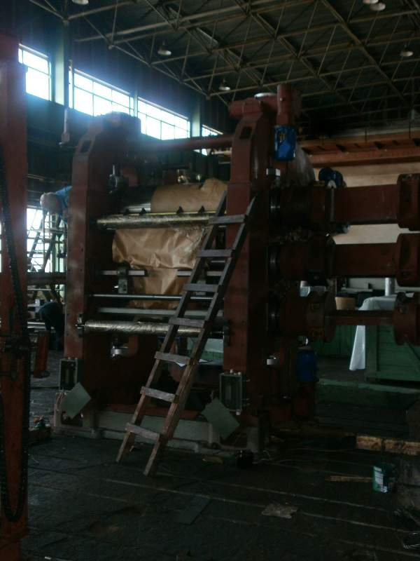 Order Production, adjustment of the kalandrovy line for RP (rubber products)