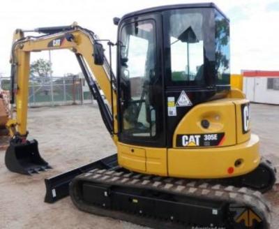 Rent of the Caterpillar 305 E mini-excavator