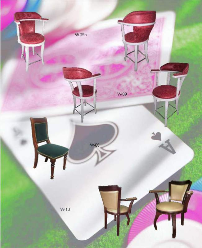 Production of chairs to order, production of furniture for cafe, a casino, restaurants