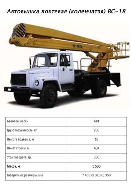 Заказать Автовышка ВС-18