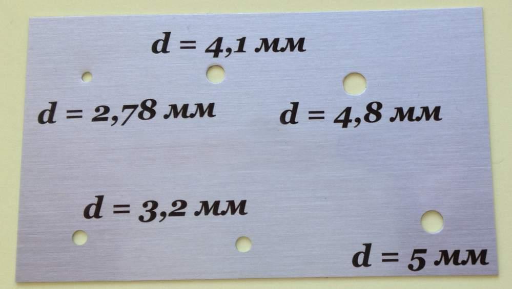 Отверстия нужного диаметра на металле
