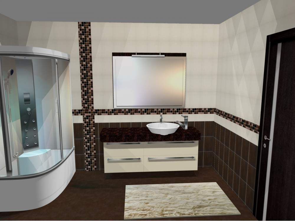 Киев фото ванной комнаты Электрический полотенцесушитель Тругор Пэк сп 1  хром Пэк сп 1/5050