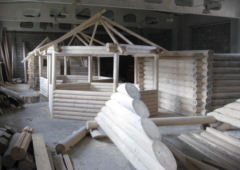 Заказать Строительство сборных домов из оцилиндрованного бруса