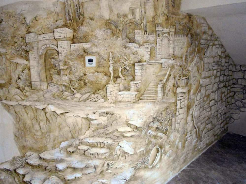 Заказать Художественная роспись стен и потолков. Декорирование стен.