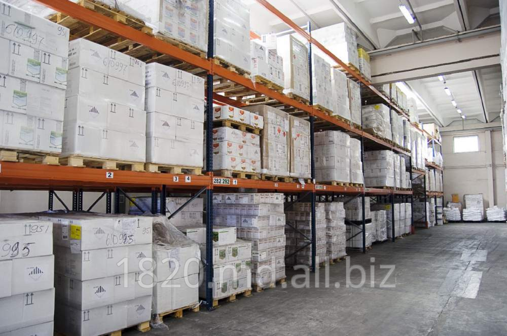 Order Warehouse services of storage of loads on pallets