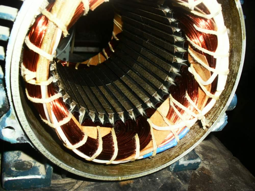 Заказать Перемотка электродвигателей любых типов и мощности.