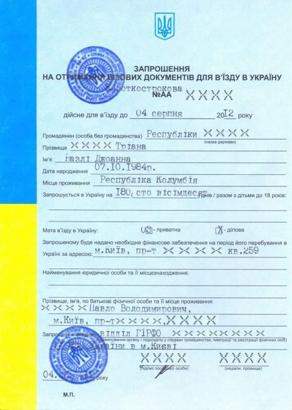 Как сделать приглашение в россию гражданину украины