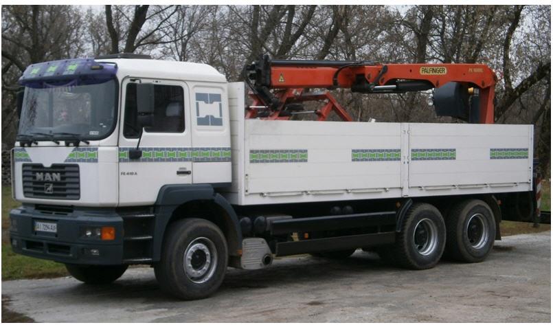 Заказать Перевозки грузов MAN манипулятор, грузоподьемность 16 тонн по Киевской области и по Украине