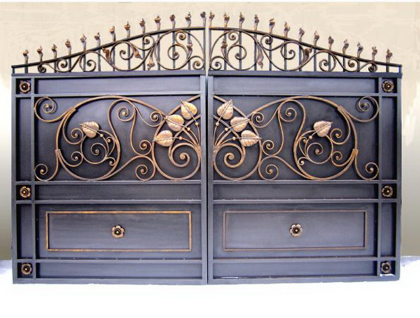 Заказать Ковка ворот на заказ, ворота с элементами ковки, художественная ковка ворота.