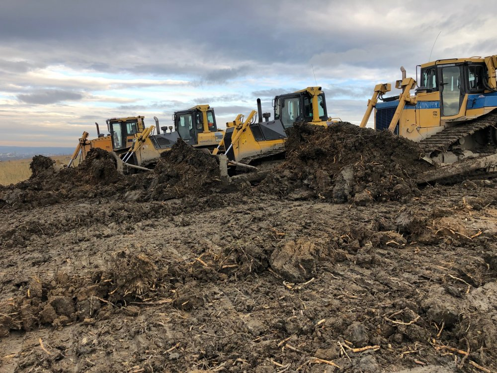Order Bank protection of bulldozers and excavator