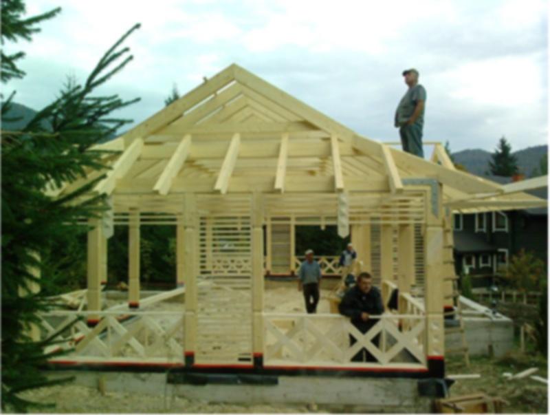 Заказать Строительство каркасно-обшивных деревянных домов