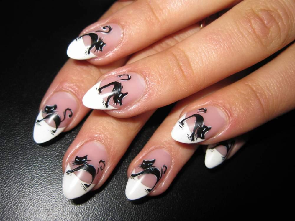 Плоскостной дизайн на ногтях