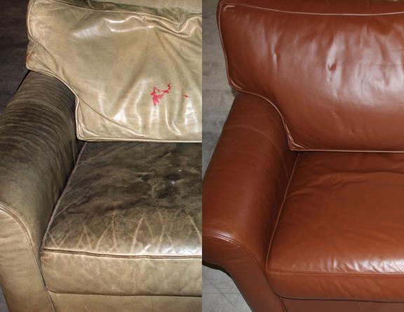 Заказать Покраска кожаной мебели