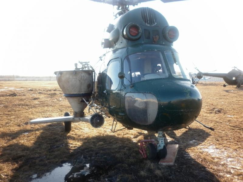 Заказать Внесение минеральных удобрений вертолетом Ми-2