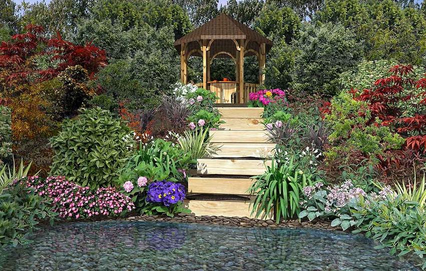 Заказать Благоустройство и озеленение приусадебных участков, садов и парков