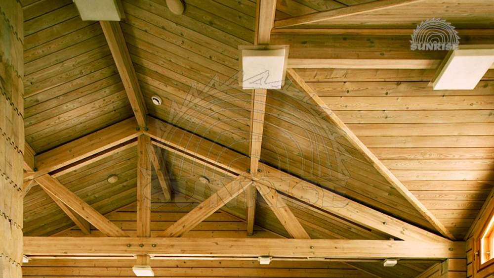 Монтаж имитации бруса, потолки с имитацией под брус