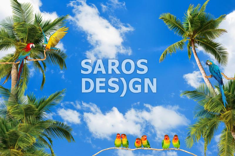 Заказать Натяжные стены с арт-печатью и светодиодной лентой saros design