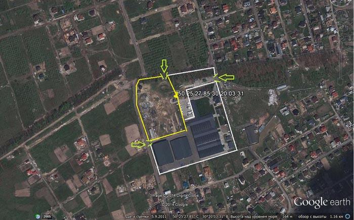 Заказать Аренда открытой охраняемой площадки в г. Киеве от 500 м2 до 10 000 м2