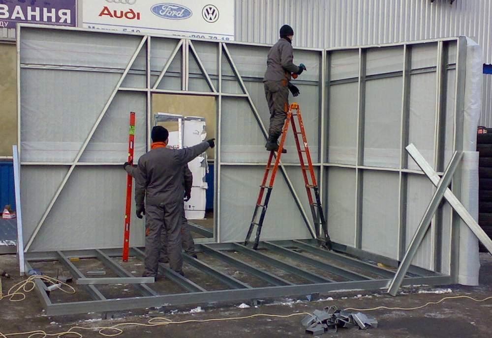 Построить торговый павильон